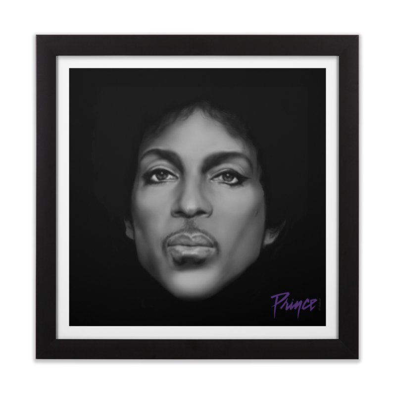 PRINCE IN BLACK Home Framed Fine Art Print by christopheart