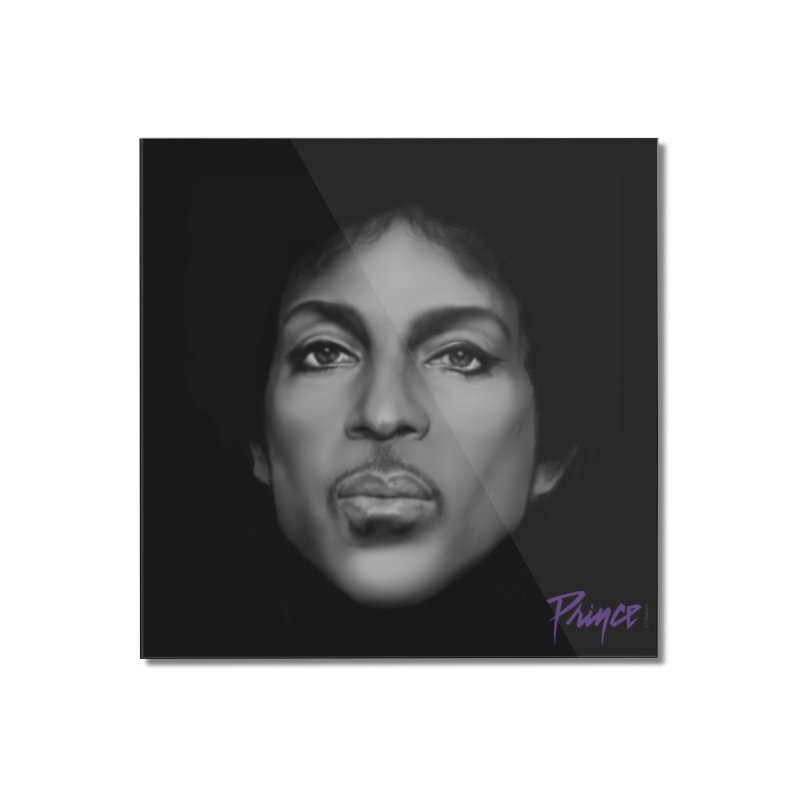 PRINCE IN BLACK Home Mounted Acrylic Print by christopheart
