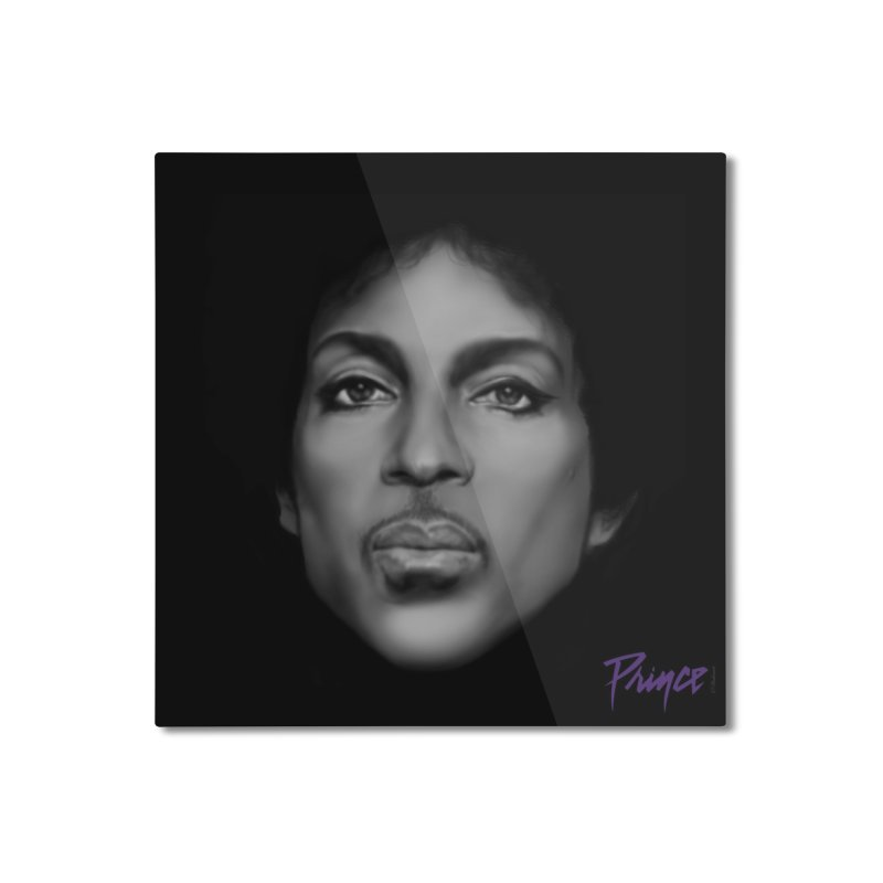 PRINCE IN BLACK Home Mounted Aluminum Print by christopheart
