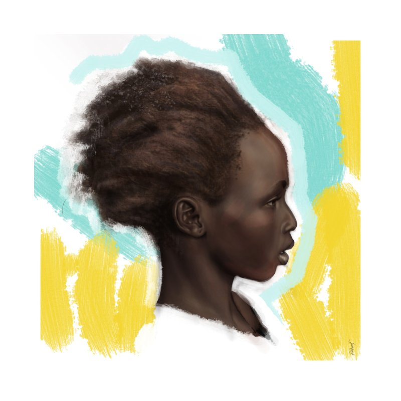 AFRO CHILD Home Fine Art Print by christopheart