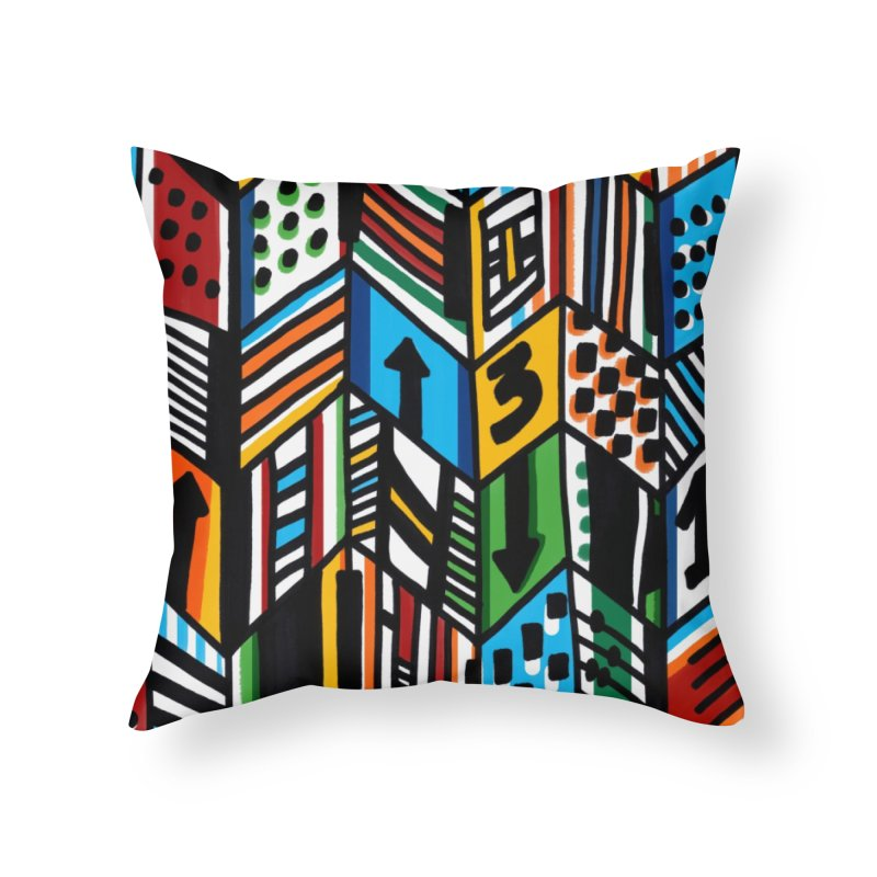G • 9 Home Throw Pillow by christopheart