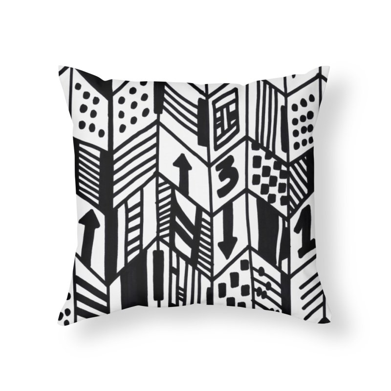 G • 9 NOIR ET BLANC Home Throw Pillow by christopheart