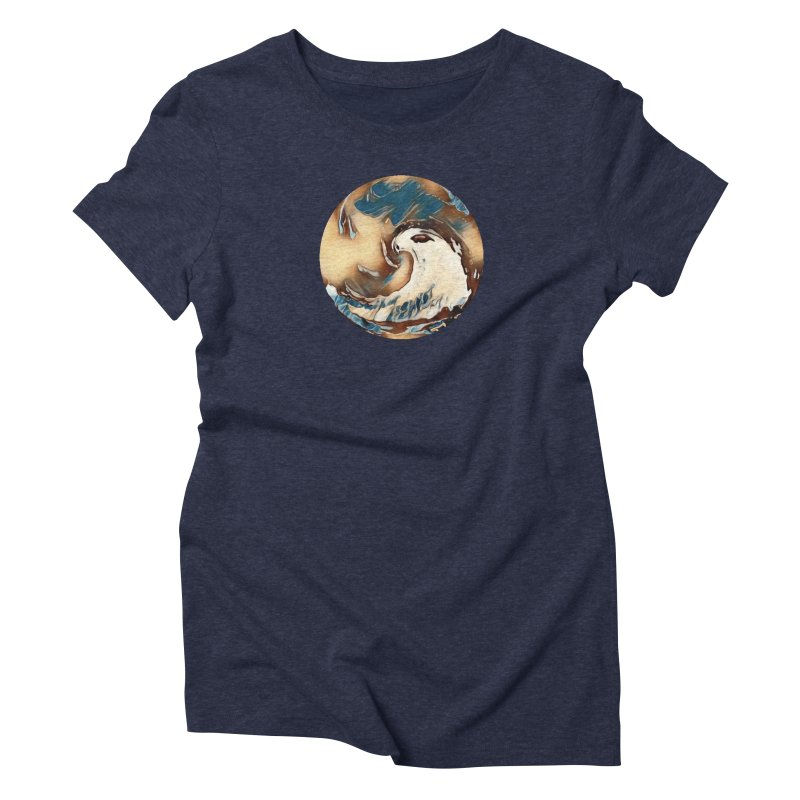 Flow with the Chi in Women's Triblend T-Shirt Navy by riverofchi's Artist Shop