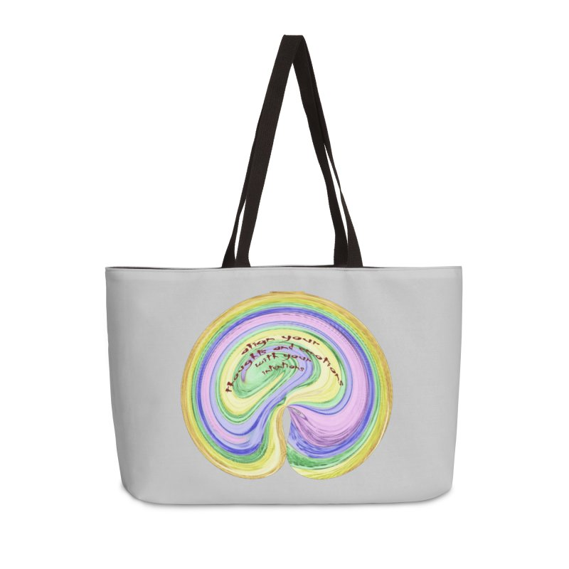 Align with Intention Accessories Weekender Bag Bag by riverofchi's Artist Shop