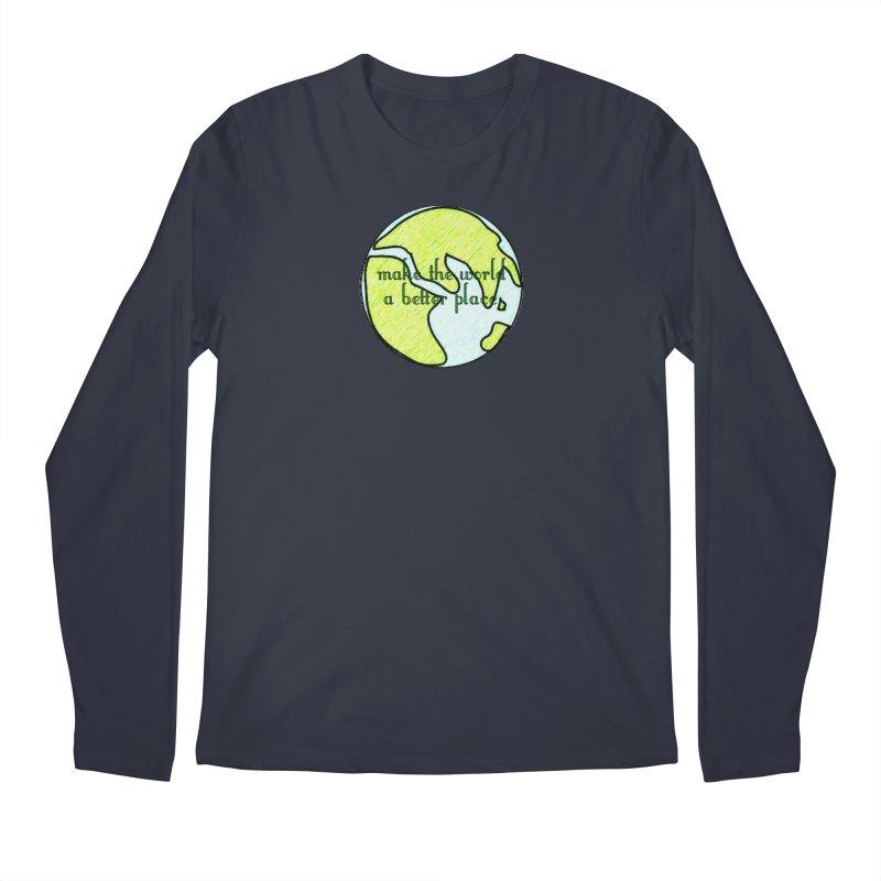 The World a Better Place Men's Regular Longsleeve T-Shirt by riverofchi's Artist Shop