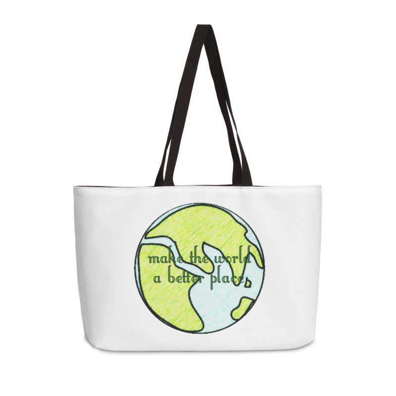 The World a Better Place Accessories Bag by riverofchi's Artist Shop