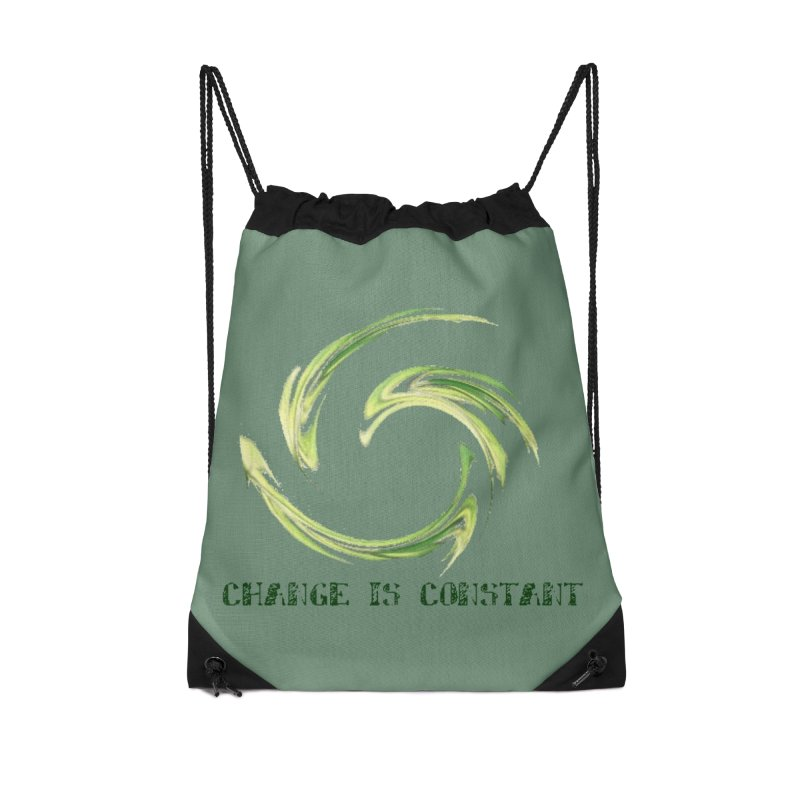 Change is Constant Accessories Drawstring Bag Bag by riverofchi's Artist Shop