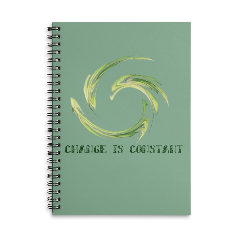 Change is Constant Accessories Lined Spiral Notebook by riverofchi's Artist Shop