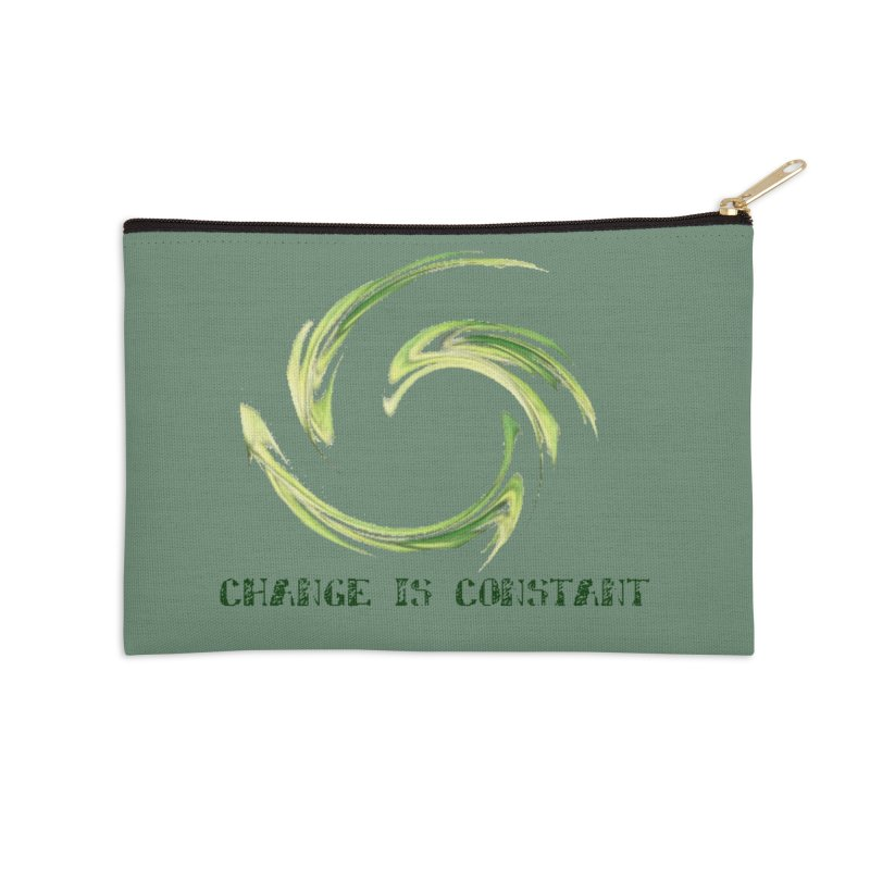 Change is Constant in Zip Pouch by riverofchi's Artist Shop