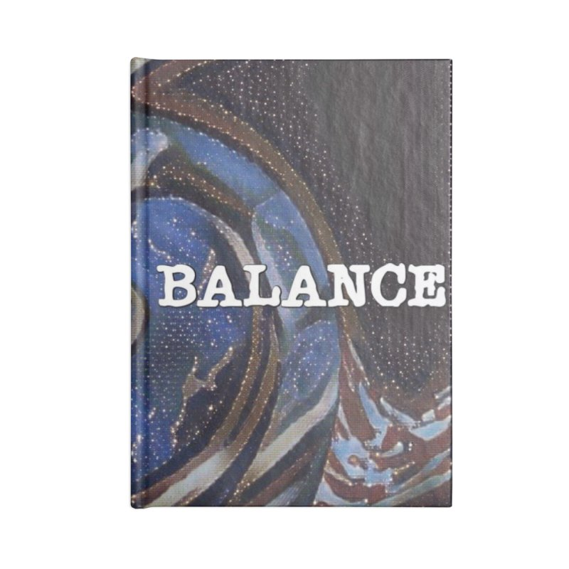 FIND YOUR BALANCE Accessories Lined Journal Notebook by riverofchi's Artist Shop