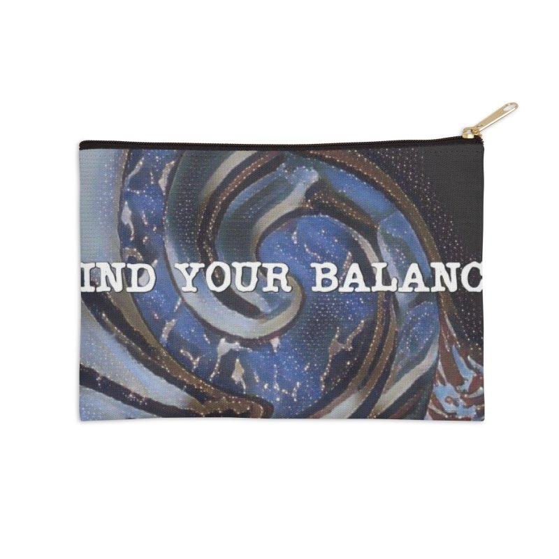 FIND YOUR BALANCE Accessories Zip Pouch by riverofchi's Artist Shop