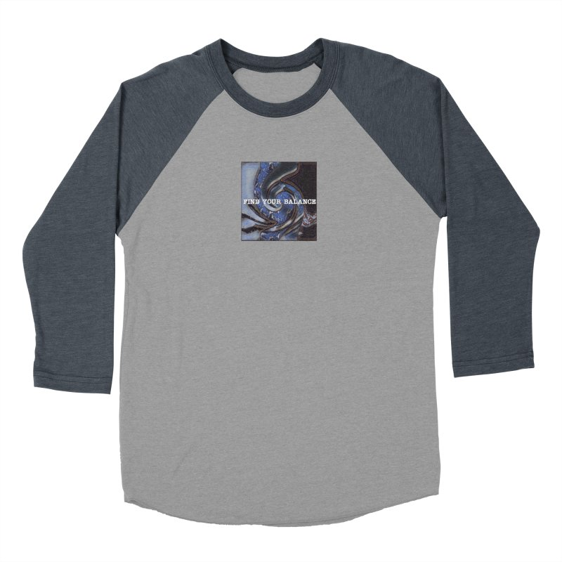 FIND YOUR BALANCE Men's Baseball Triblend Longsleeve T-Shirt by riverofchi's Artist Shop