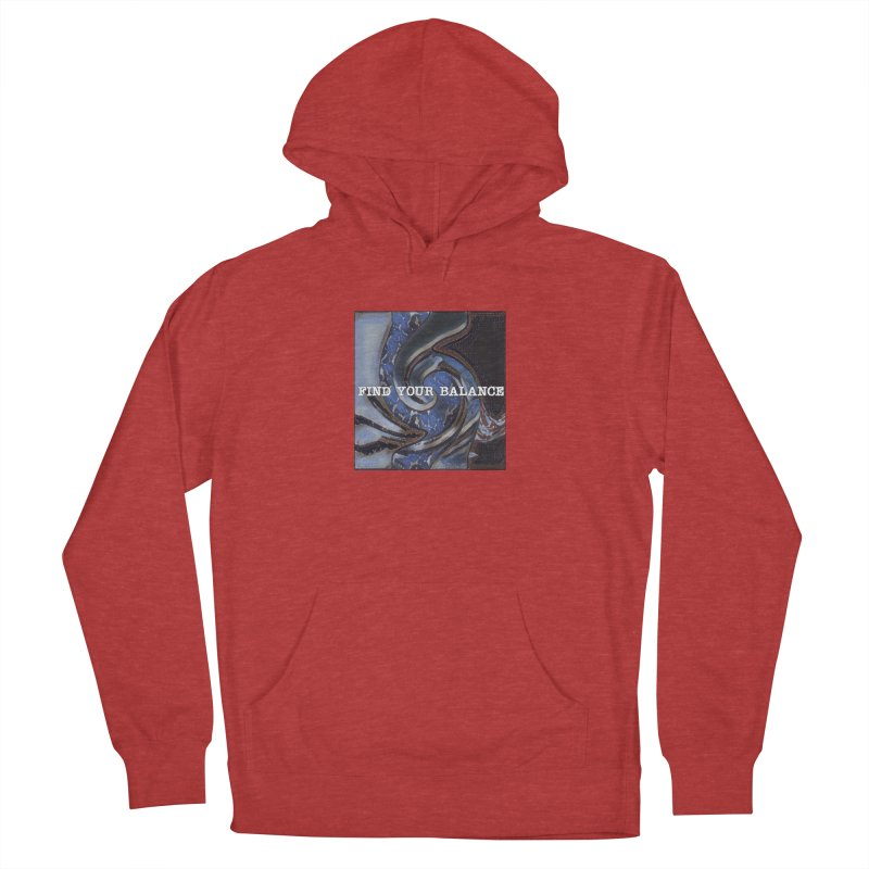 FIND YOUR BALANCE Men's French Terry Pullover Hoody by riverofchi's Artist Shop