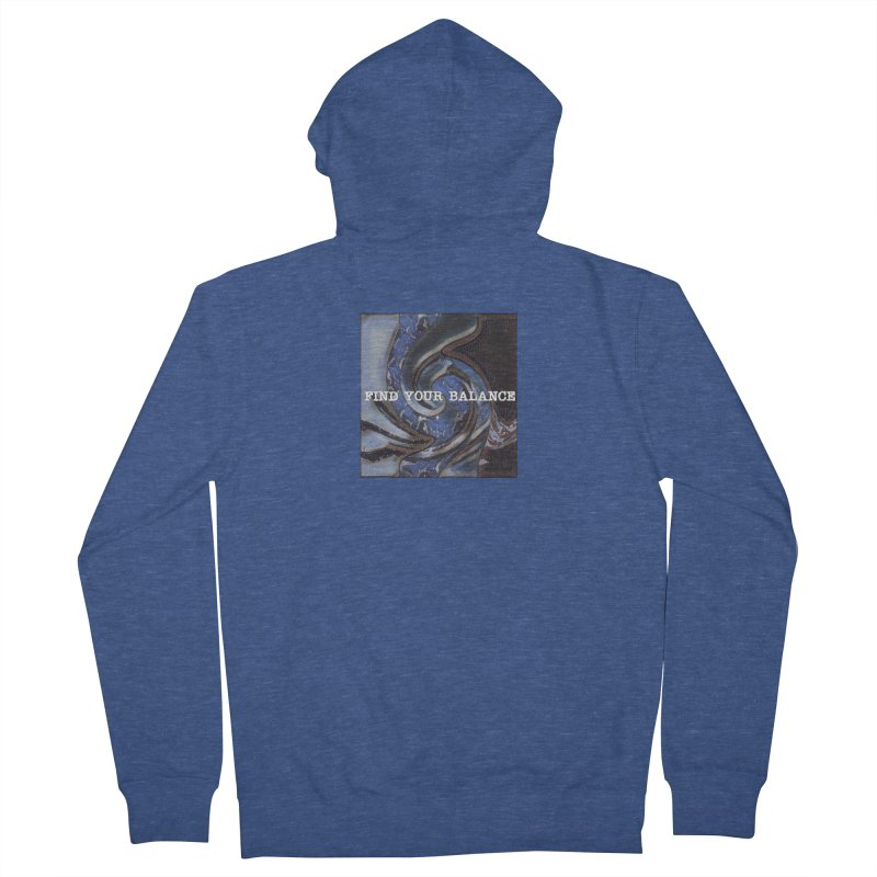 FIND YOUR BALANCE Women's French Terry Zip-Up Hoody by riverofchi's Artist Shop