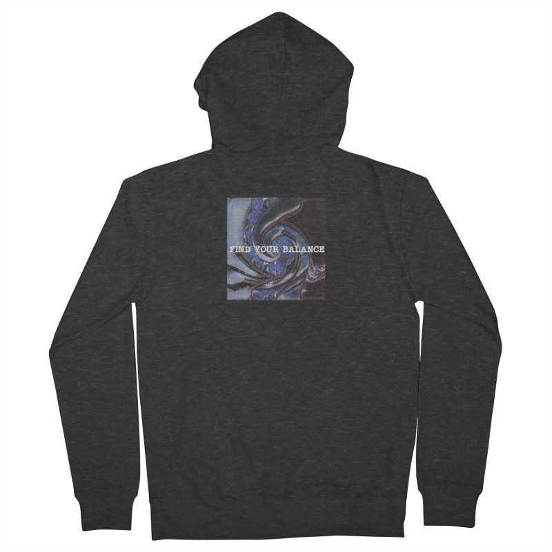FIND YOUR BALANCE Men's French Terry Zip-Up Hoody by riverofchi's Artist Shop