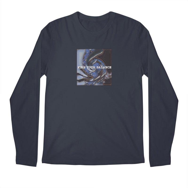 FIND YOUR BALANCE Men's Regular Longsleeve T-Shirt by riverofchi's Artist Shop