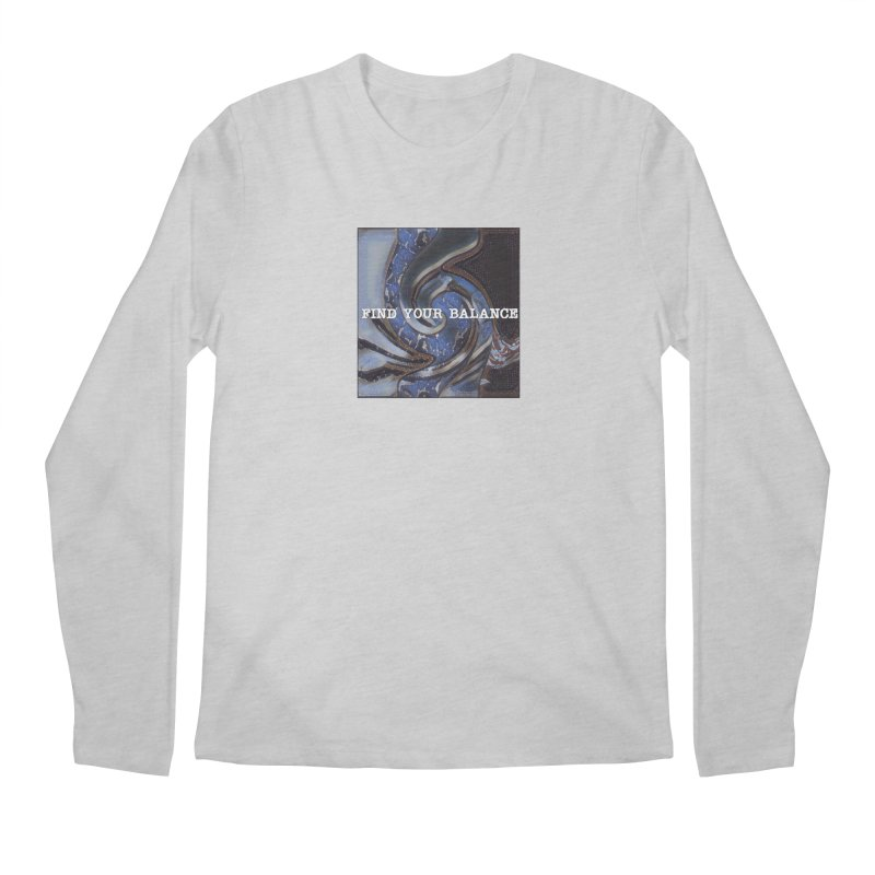 FIND YOUR BALANCE Men's Regular Longsleeve T-Shirt by riverofchi's Artist Shop
