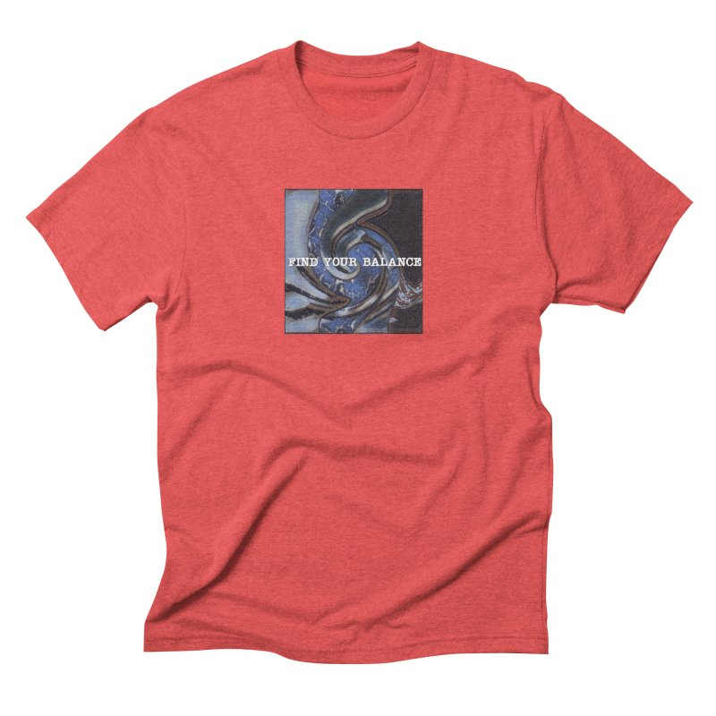 FIND YOUR BALANCE Men's Triblend T-Shirt by riverofchi's Artist Shop