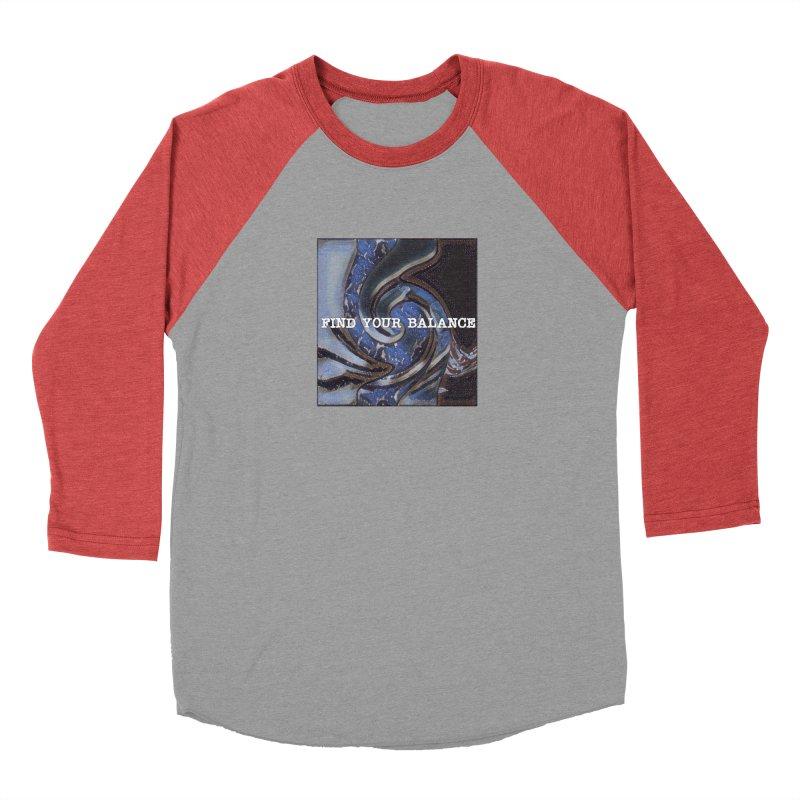 FIND YOUR BALANCE Men's Baseball Triblend Longsleeve T-Shirt by riverofchi's Artist Shop