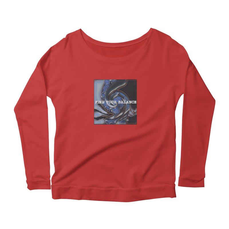 FIND YOUR BALANCE Women's Scoop Neck Longsleeve T-Shirt by riverofchi's Artist Shop