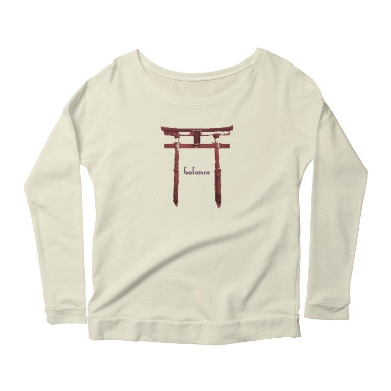 Balance Women's Scoop Neck Longsleeve T-Shirt by riverofchi's Artist Shop