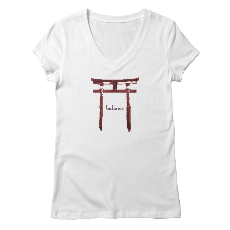 Balance Women's Regular V-Neck by riverofchi's Artist Shop