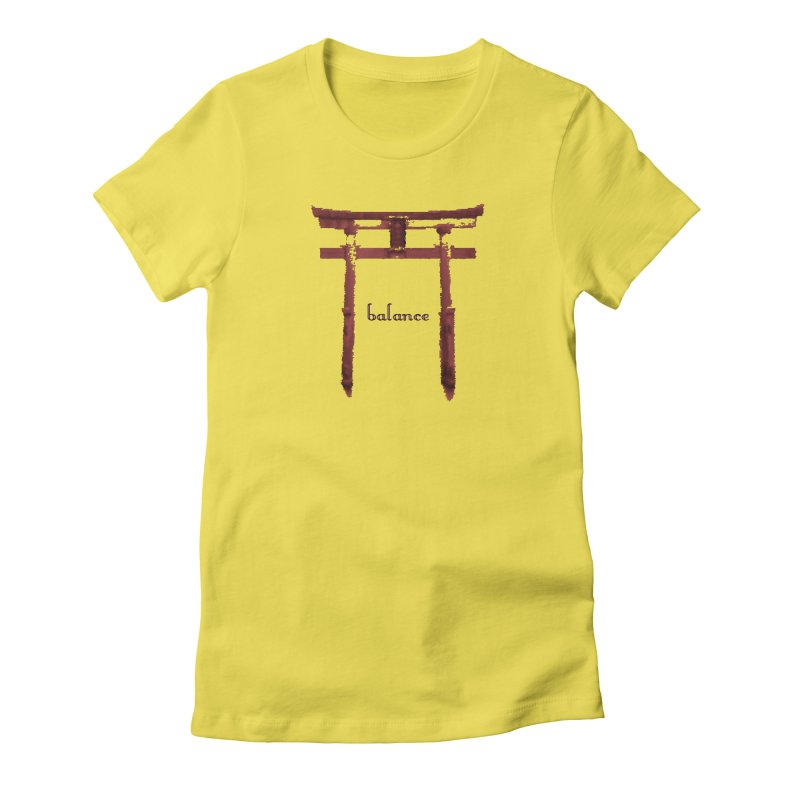 Balance Women's Fitted T-Shirt by riverofchi's Artist Shop