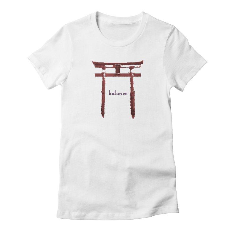 Balance Women's Fitted T-Shirt by riverofchi's Artist Shop