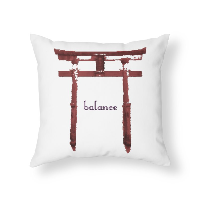 Balance Home Throw Pillow by riverofchi's Artist Shop