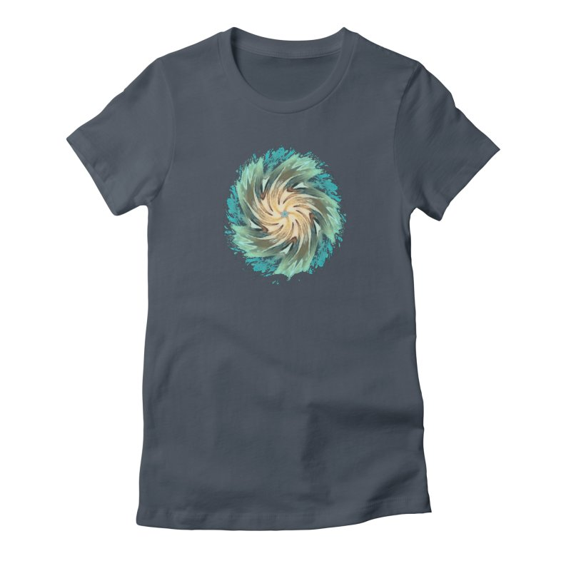 Progress Forward in Women's Fitted T-Shirt Denim by riverofchi's Artist Shop