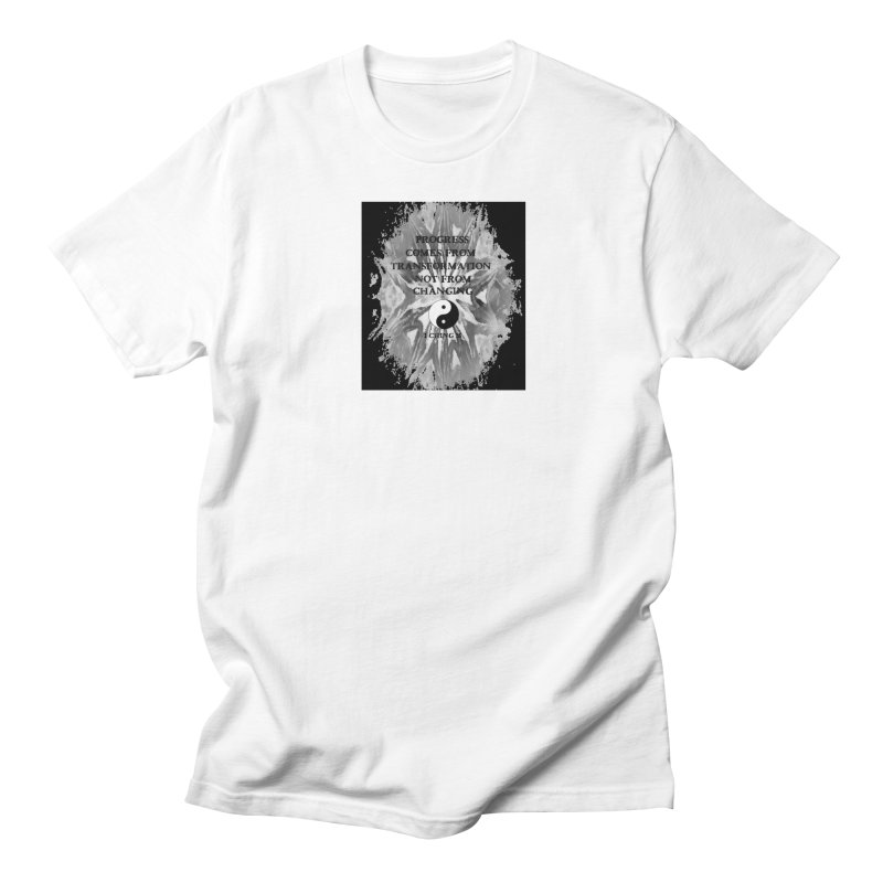 Progress in Men's Regular T-Shirt White by riverofchi's Artist Shop