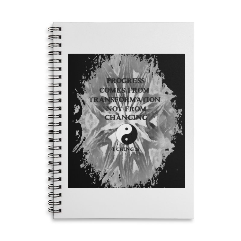Progress Accessories Lined Spiral Notebook by riverofchi's Artist Shop