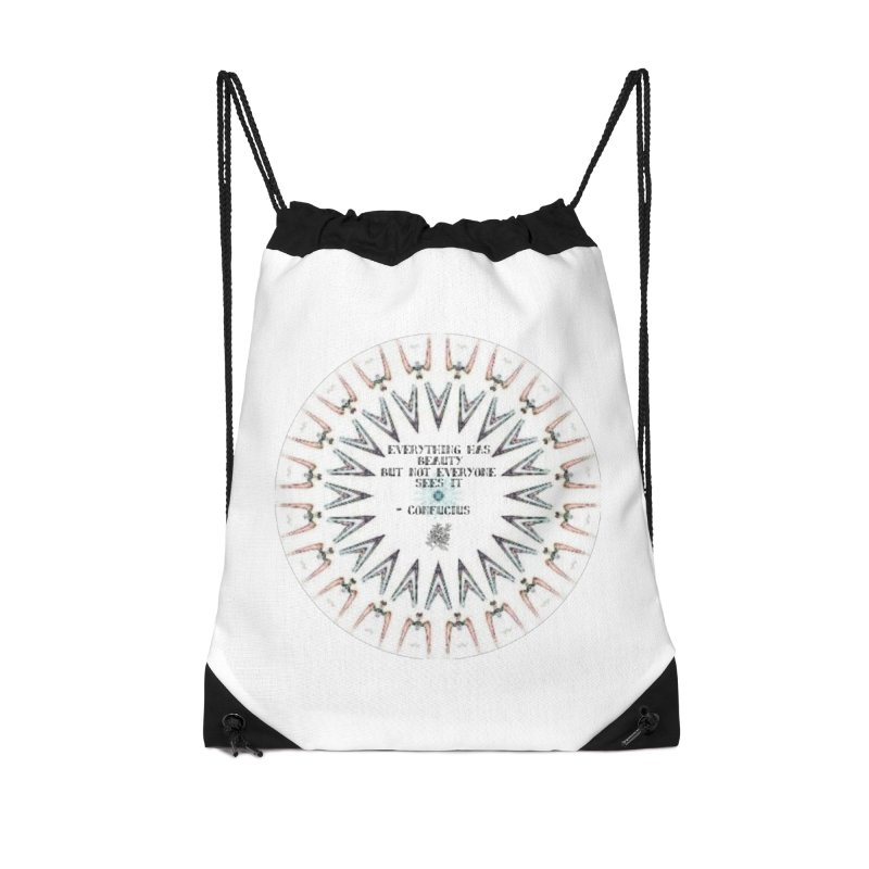 Everything has Beauty Accessories Drawstring Bag Bag by riverofchi's Artist Shop