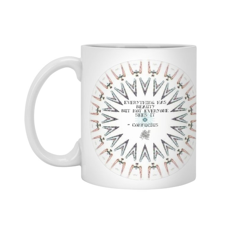 Everything has Beauty in Standard Mug White by riverofchi's Artist Shop