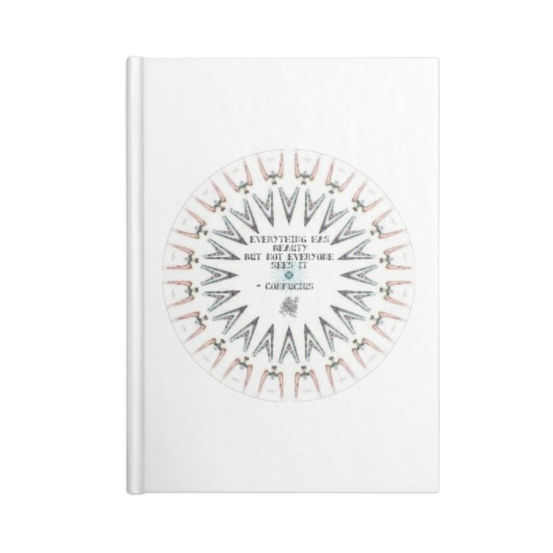 Everything has Beauty Accessories Lined Journal Notebook by riverofchi's Artist Shop