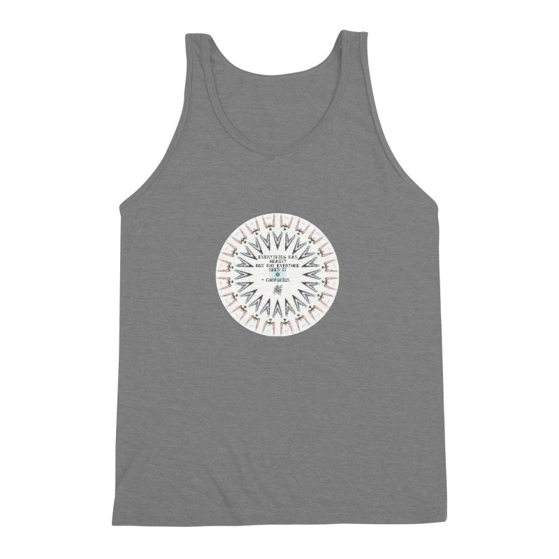 Everything has Beauty Men's Triblend Tank by riverofchi's Artist Shop