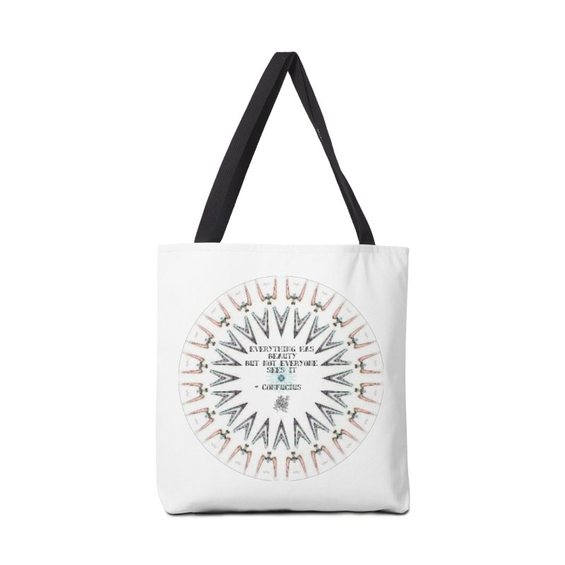 Everything has Beauty Accessories Tote Bag Bag by riverofchi's Artist Shop