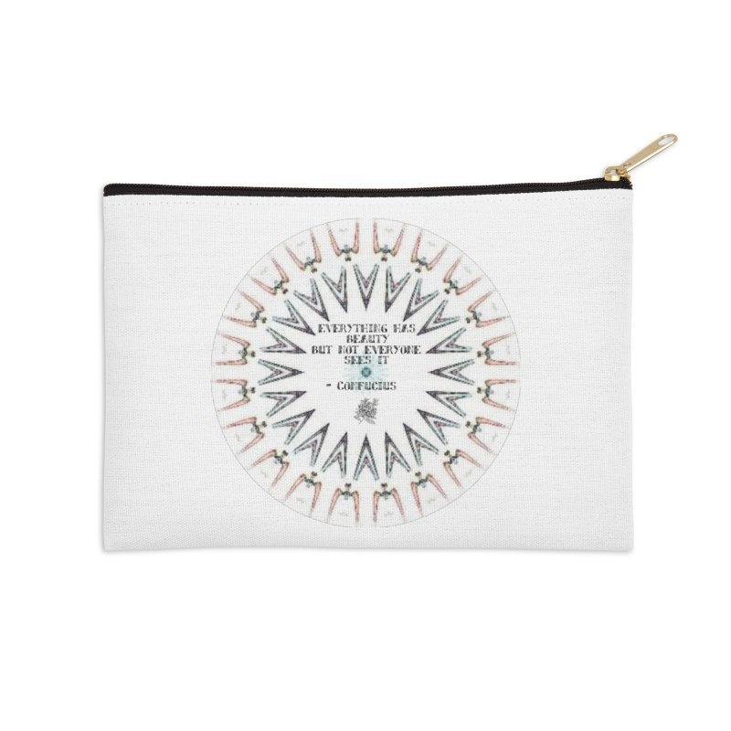 Everything has Beauty Accessories Zip Pouch by riverofchi's Artist Shop