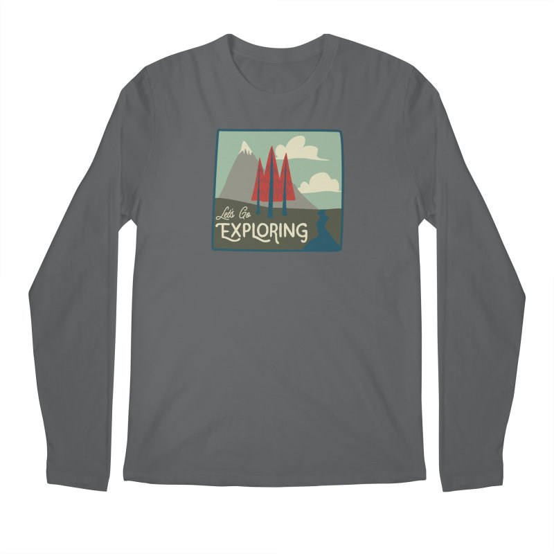 Let's Go Exploring Men's Regular Longsleeve T-Shirt by River Trail Supply Company