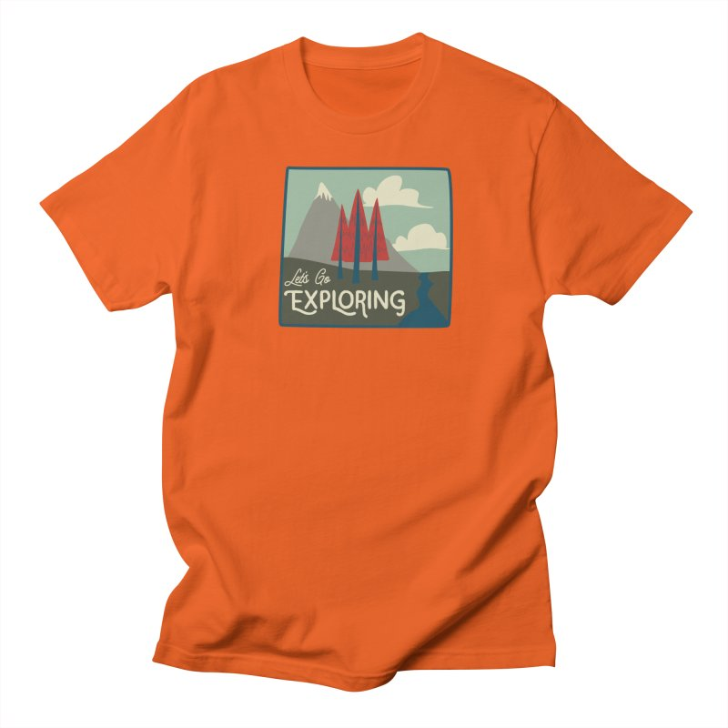 Let's Go Exploring Men's Regular T-Shirt by River Trail Supply Company