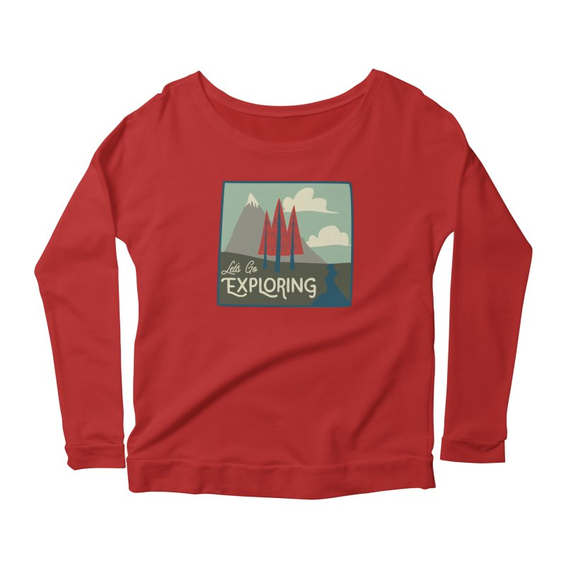 Let's Go Exploring Women's Longsleeve Scoopneck  by River Trail Supply Company