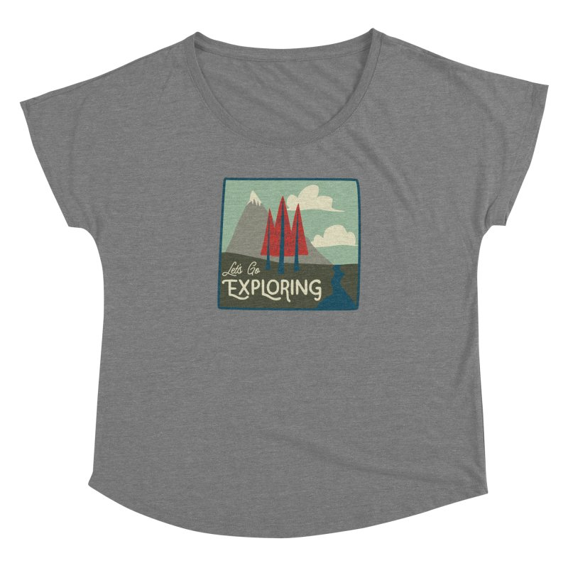 Let's Go Exploring Women's Scoop Neck by River Trail Supply Company