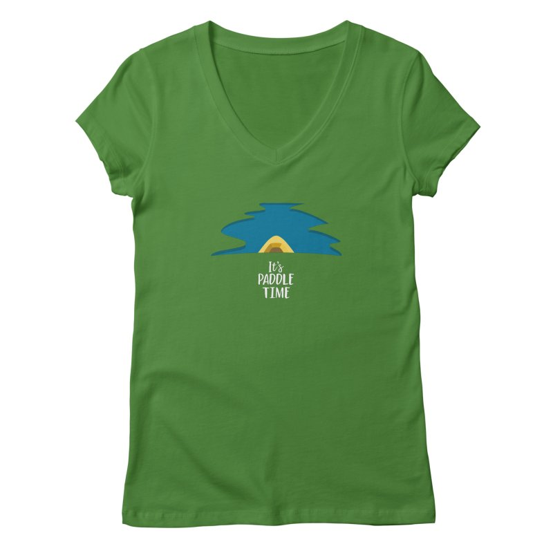 Paddle Time Women's Regular V-Neck by River Trail Supply Company