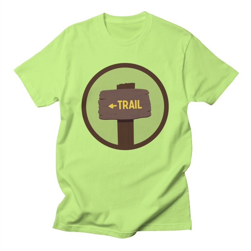 Trail Sign Men's T-Shirt by River Trail Supply Company