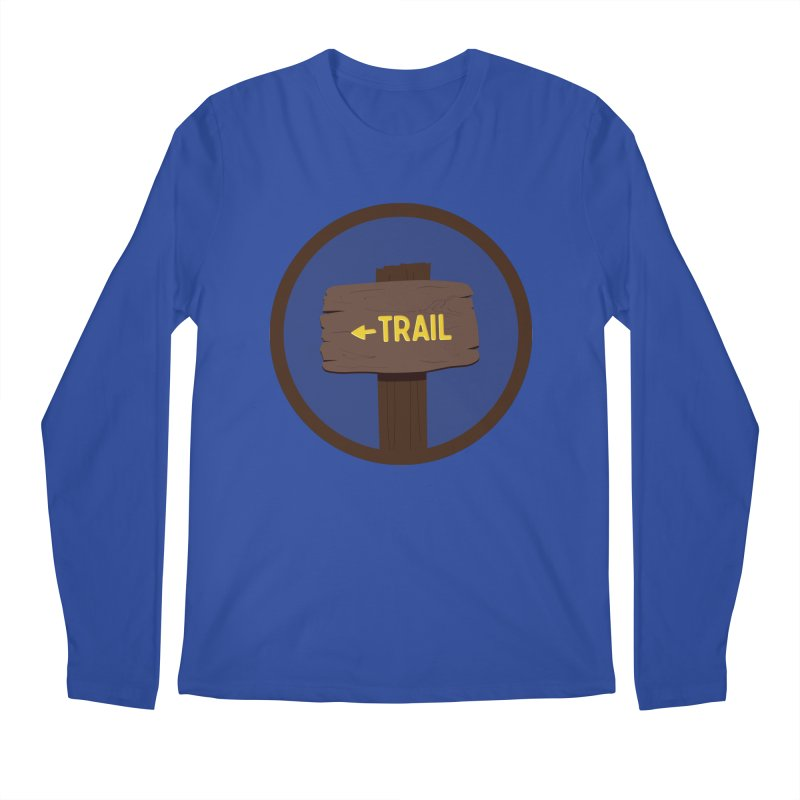 Trail Sign Men's Regular Longsleeve T-Shirt by River Trail Supply Company