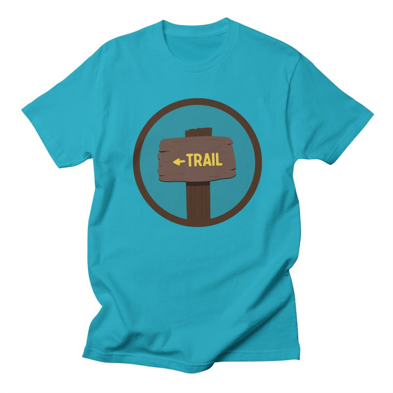 Trail Sign Men's Regular T-Shirt by River Trail Supply Company