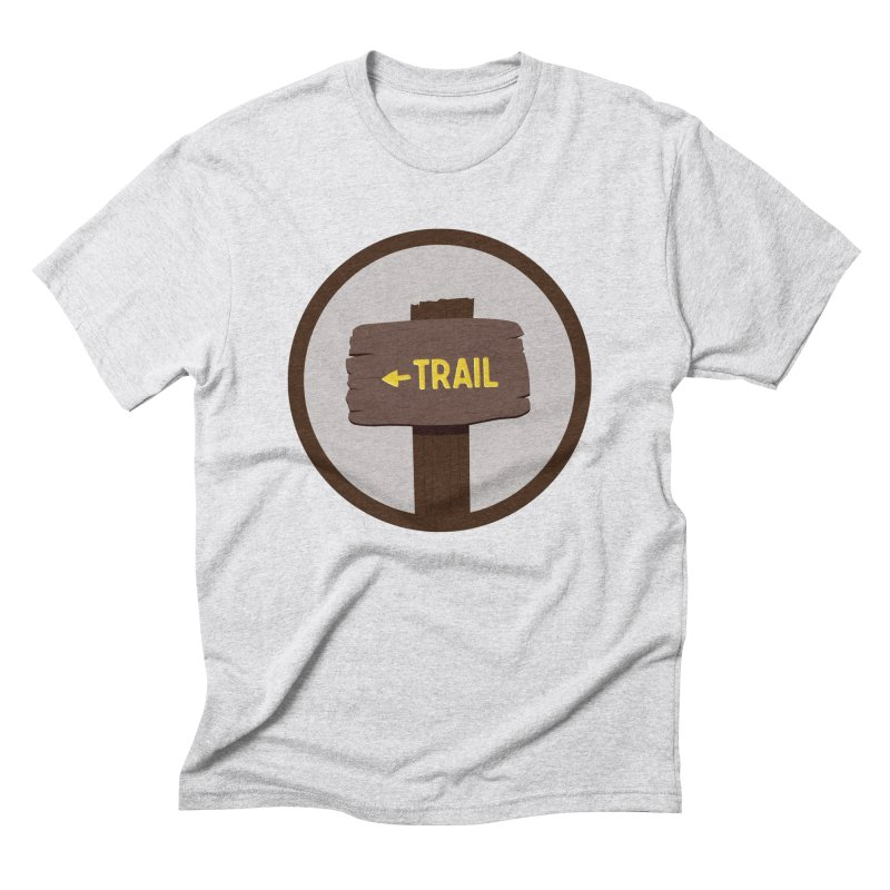 Trail Sign Men's Triblend T-Shirt by River Trail Supply Company