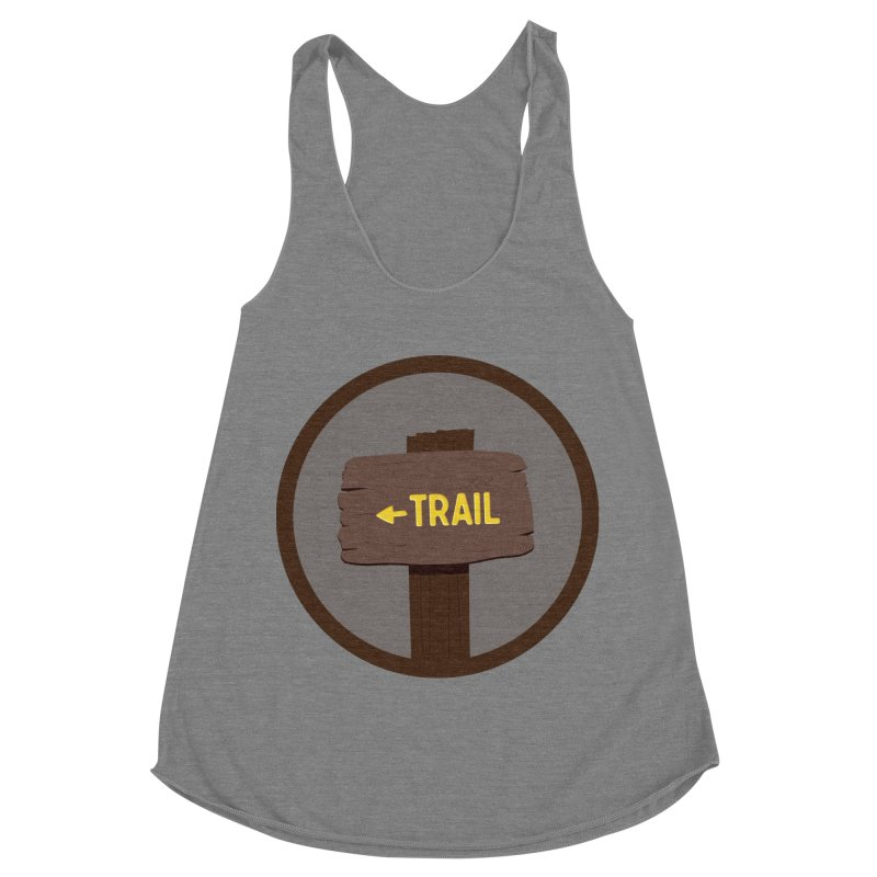 Trail Sign Women's Racerback Triblend Tank by River Trail Supply Company