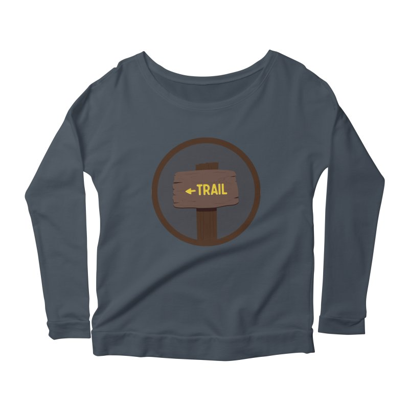 Trail Sign Women's Scoop Neck Longsleeve T-Shirt by River Trail Supply Company