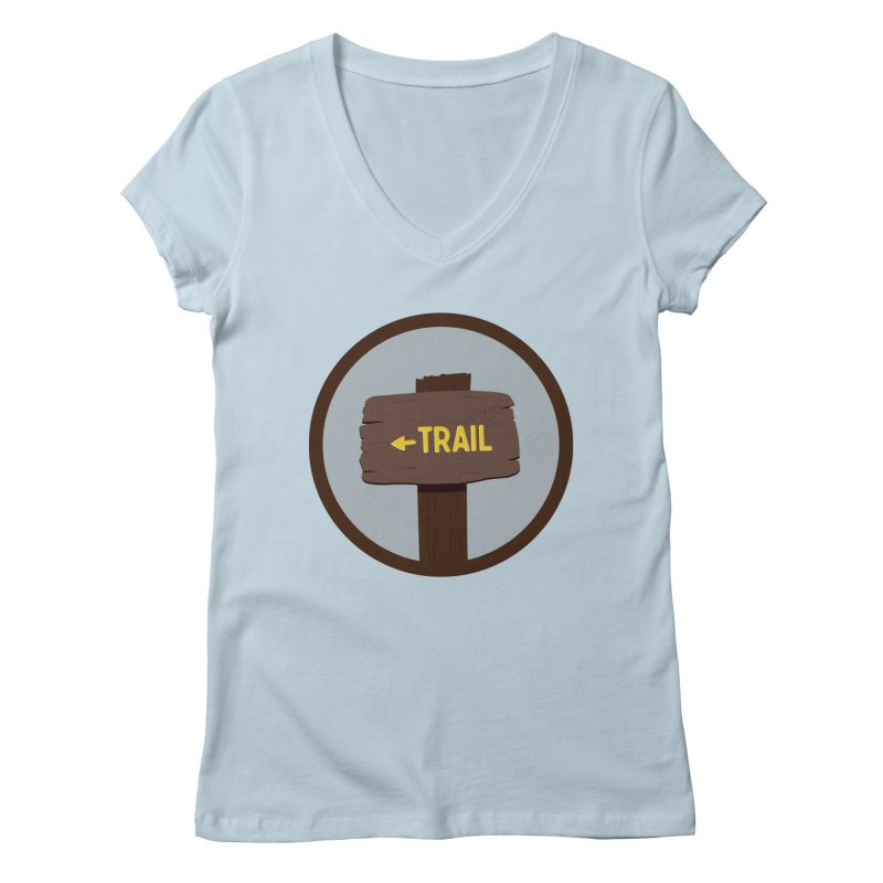 Trail Sign Women's V-Neck by River Trail Supply Company